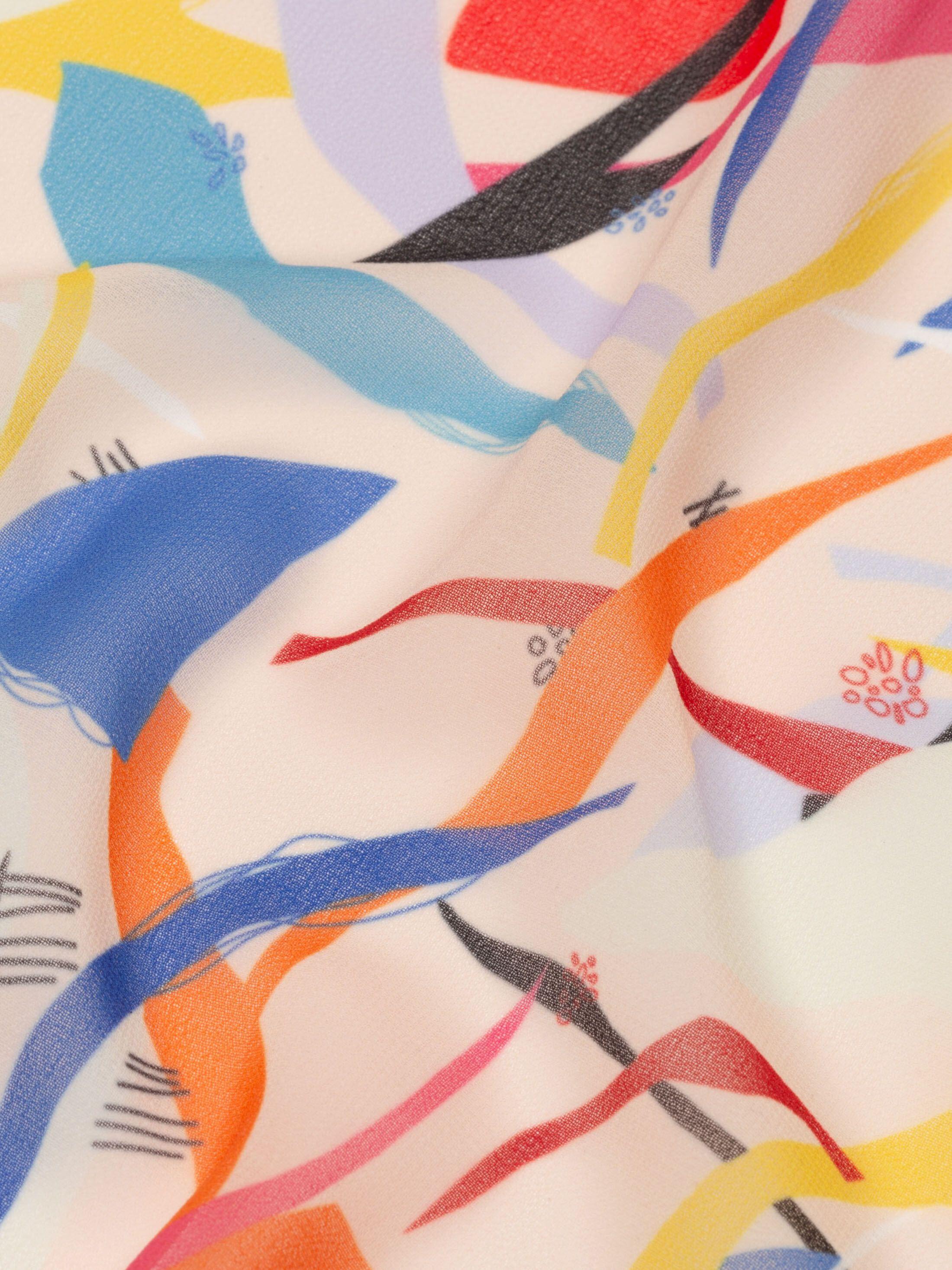 ジョーゼット 布印刷