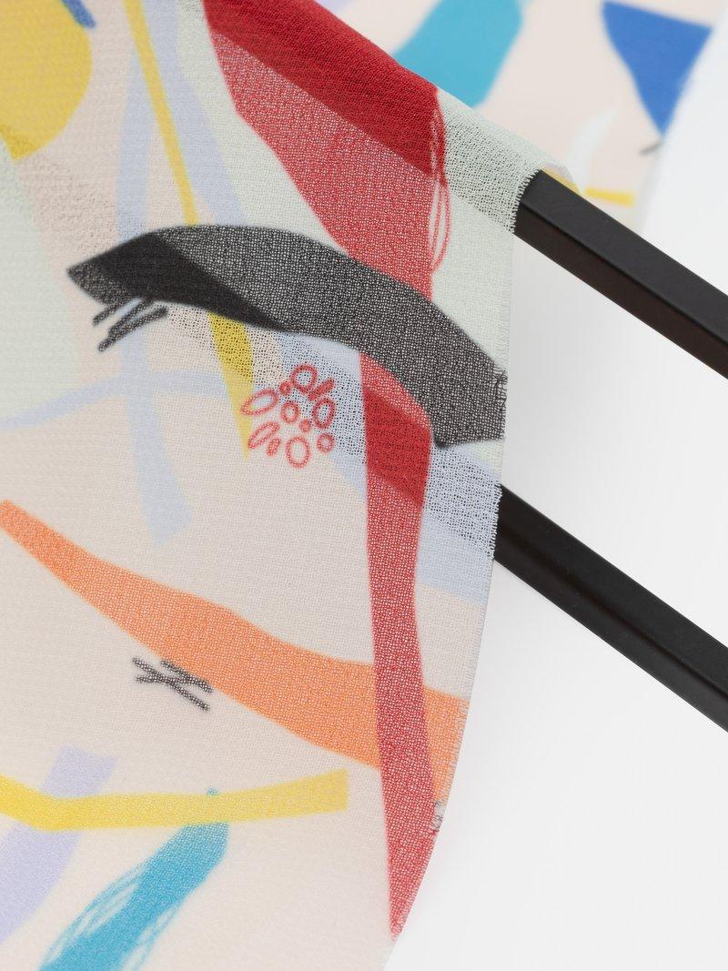 close up georgette printing detail
