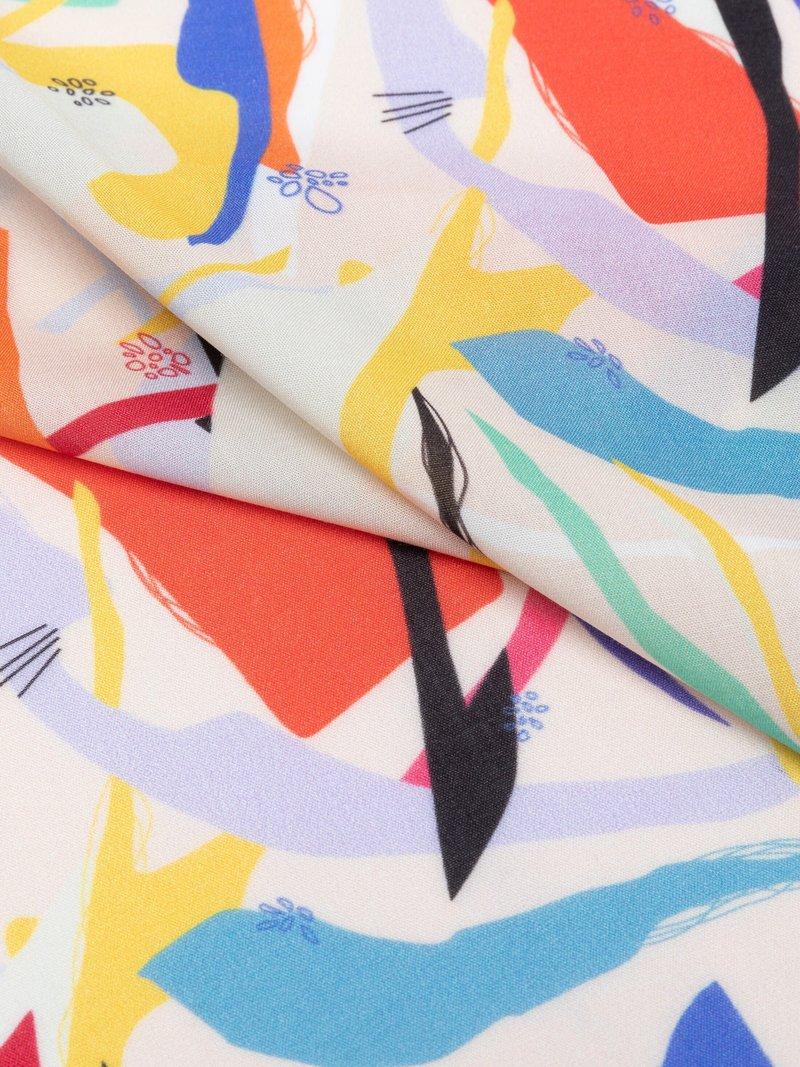 custom printed viscose fabric