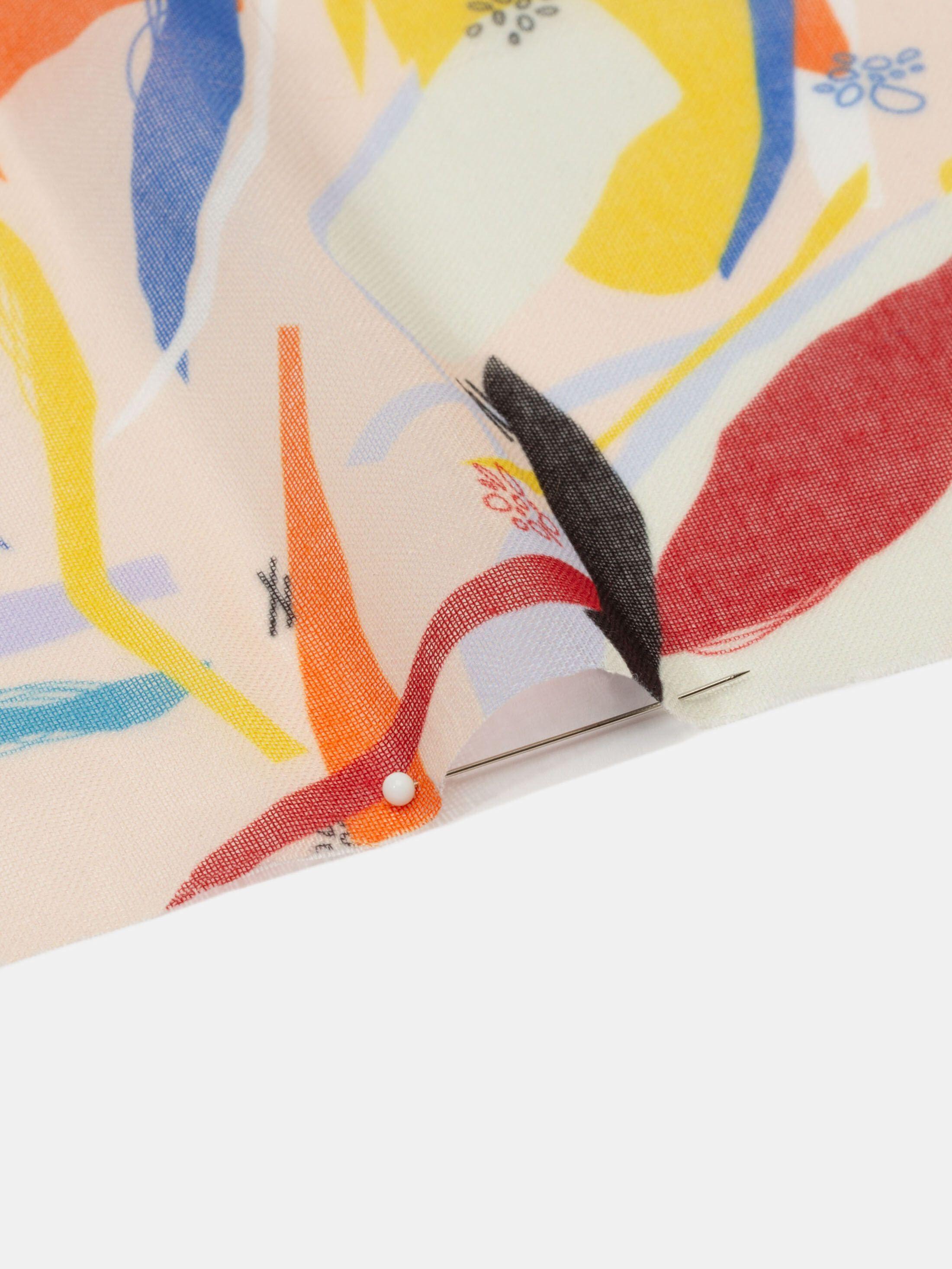 custom design printed muslin fabric uk edge details