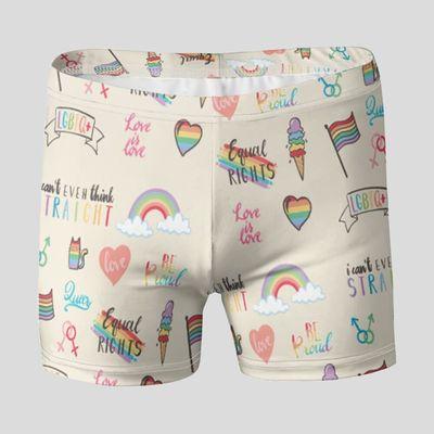 pride swim trunks