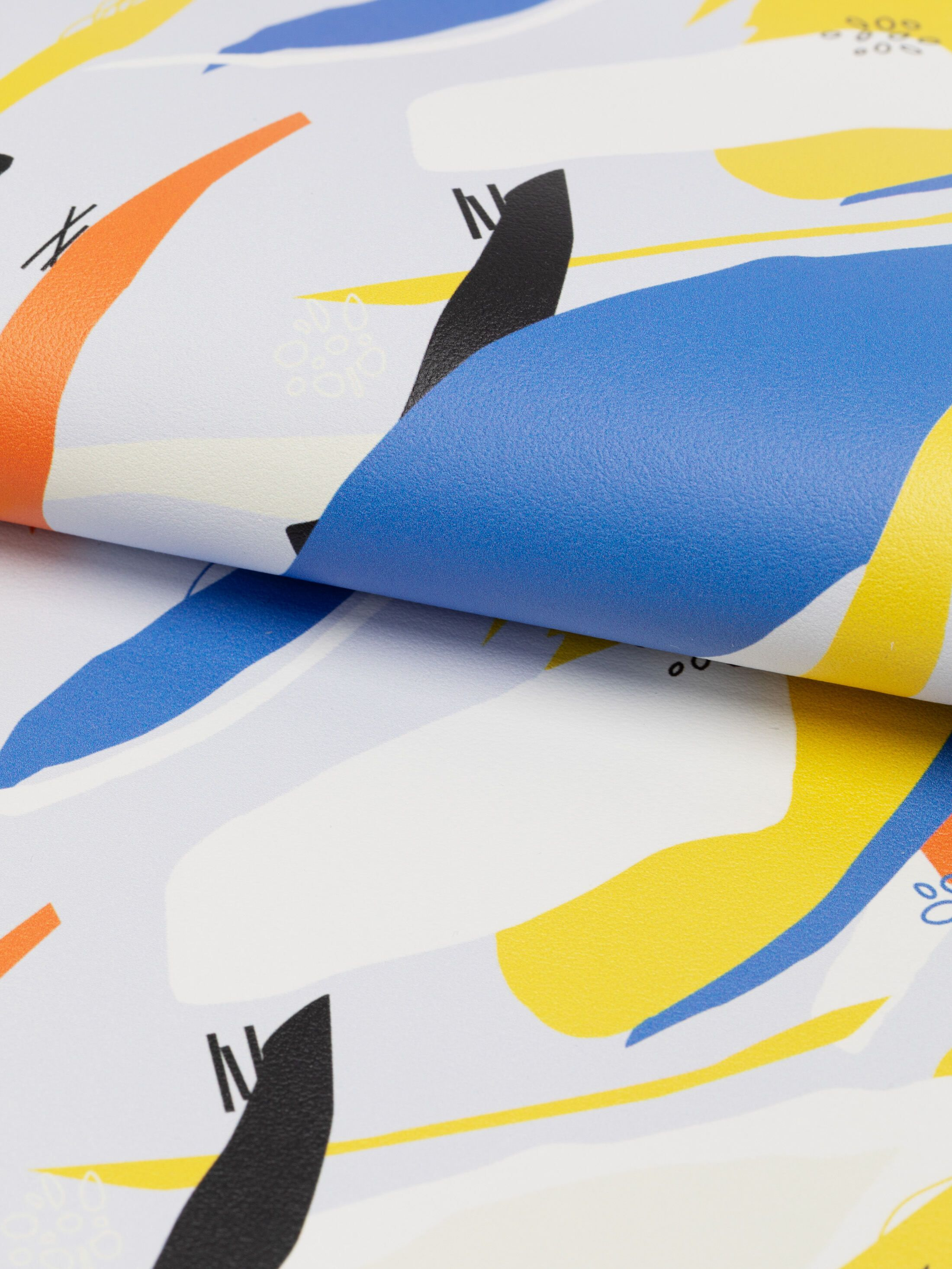 custom printed leather bubble nappa