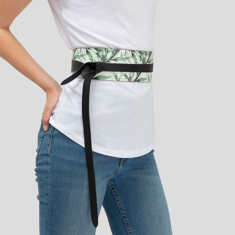 Custom leather wrap belt