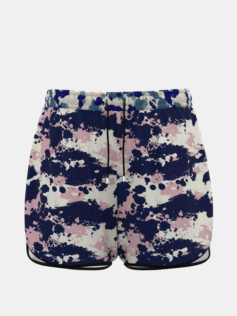printed womens running shorts