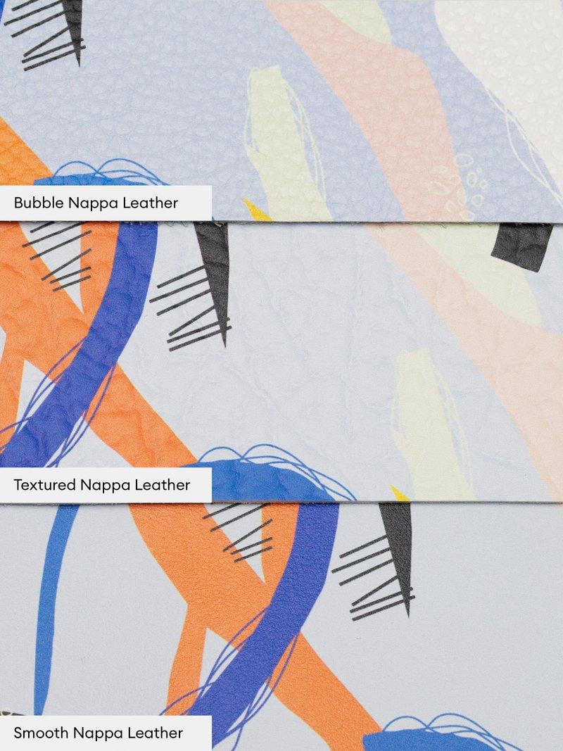 retro stampa su pelle di nappa
