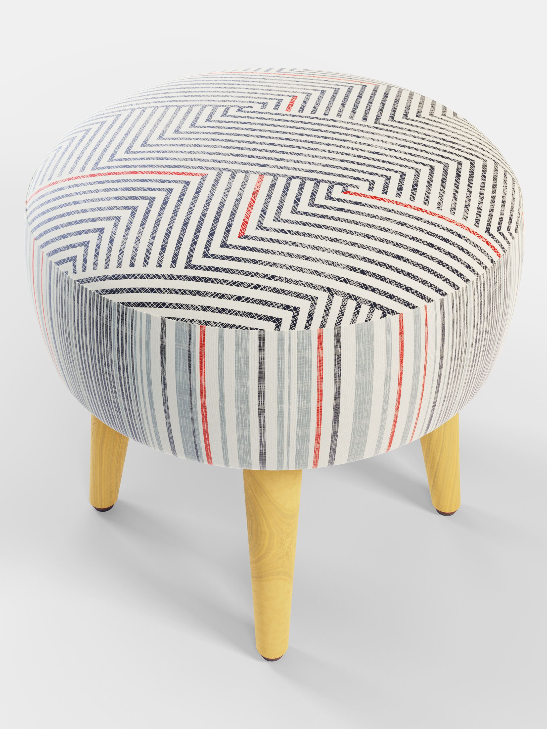 bespoke ottoman footstool circle shape