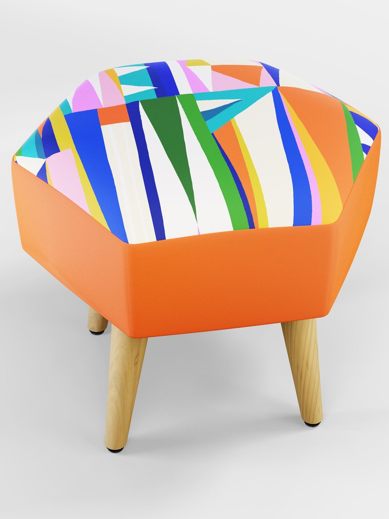custom vanity stool close up