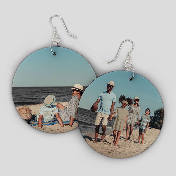 custom wooden earrings