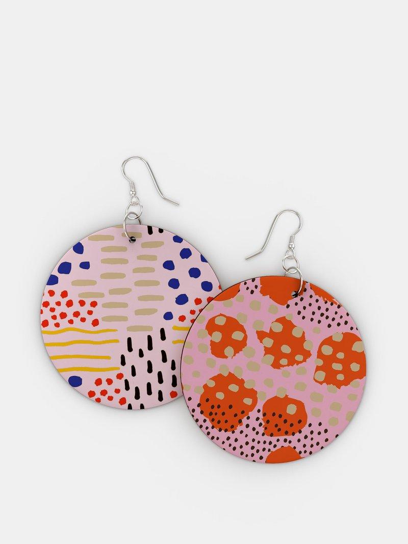 bespoke wooden earrings circle