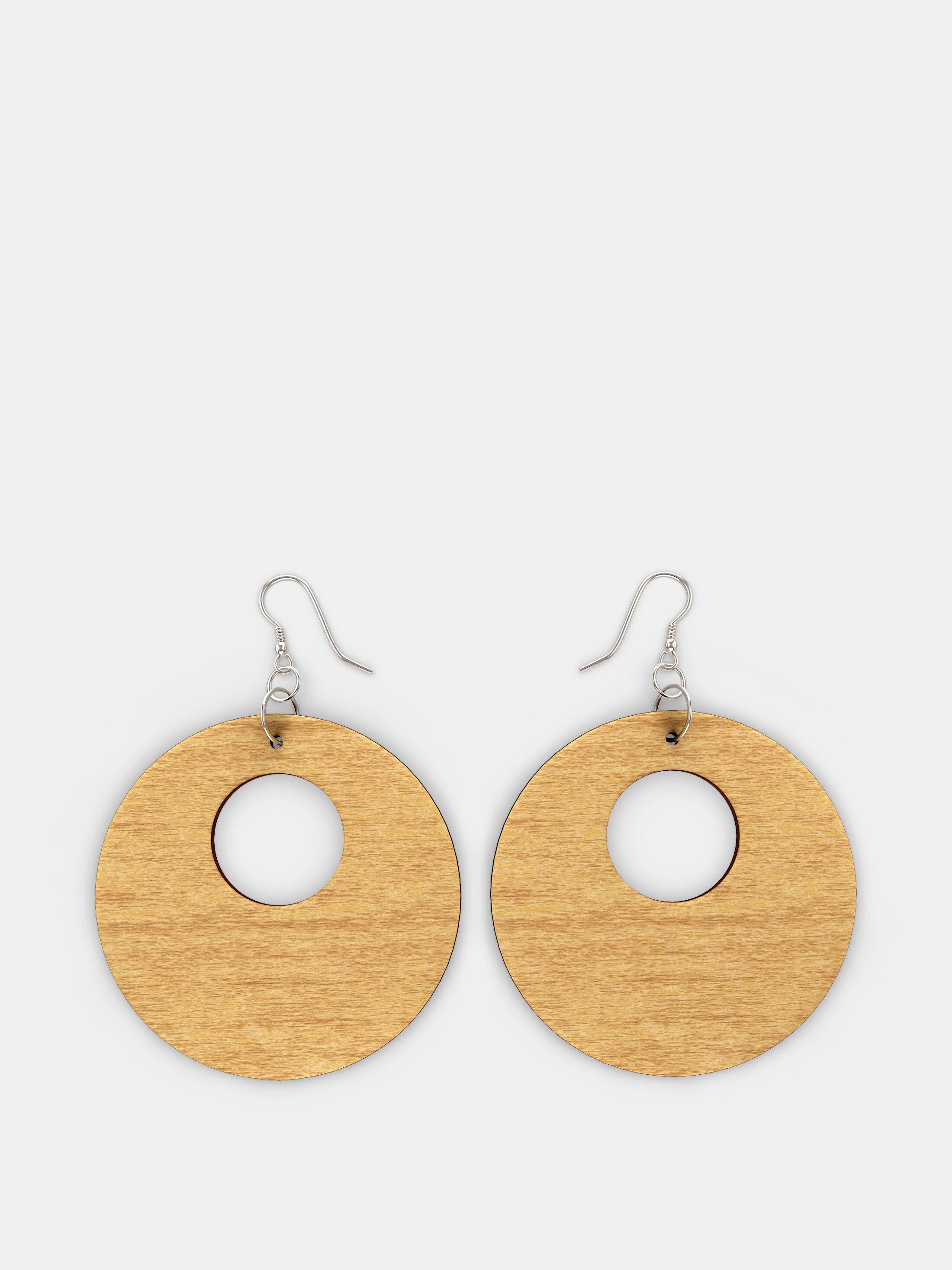 pendientes de madera personalizados en blanco