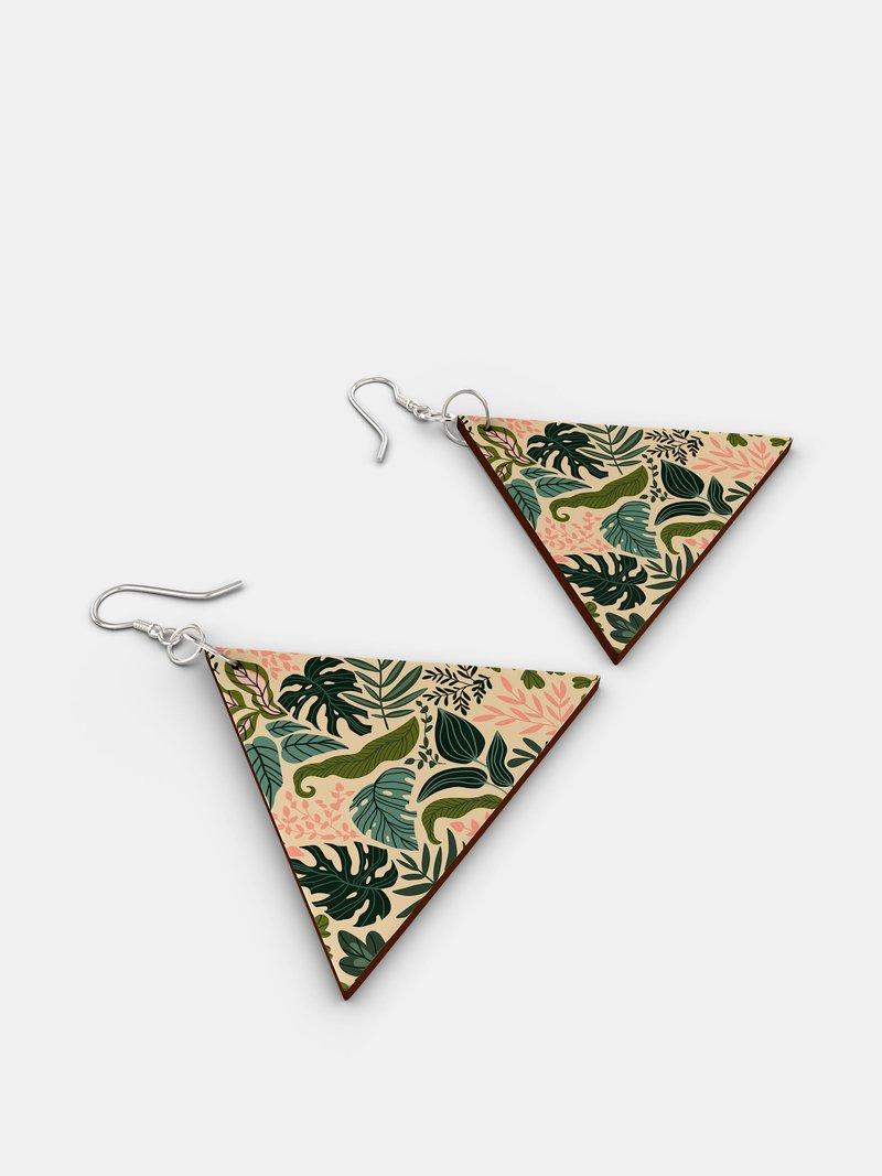 custom printed wooden earrings