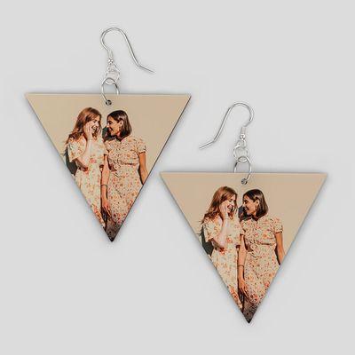 personalised wooden earrings