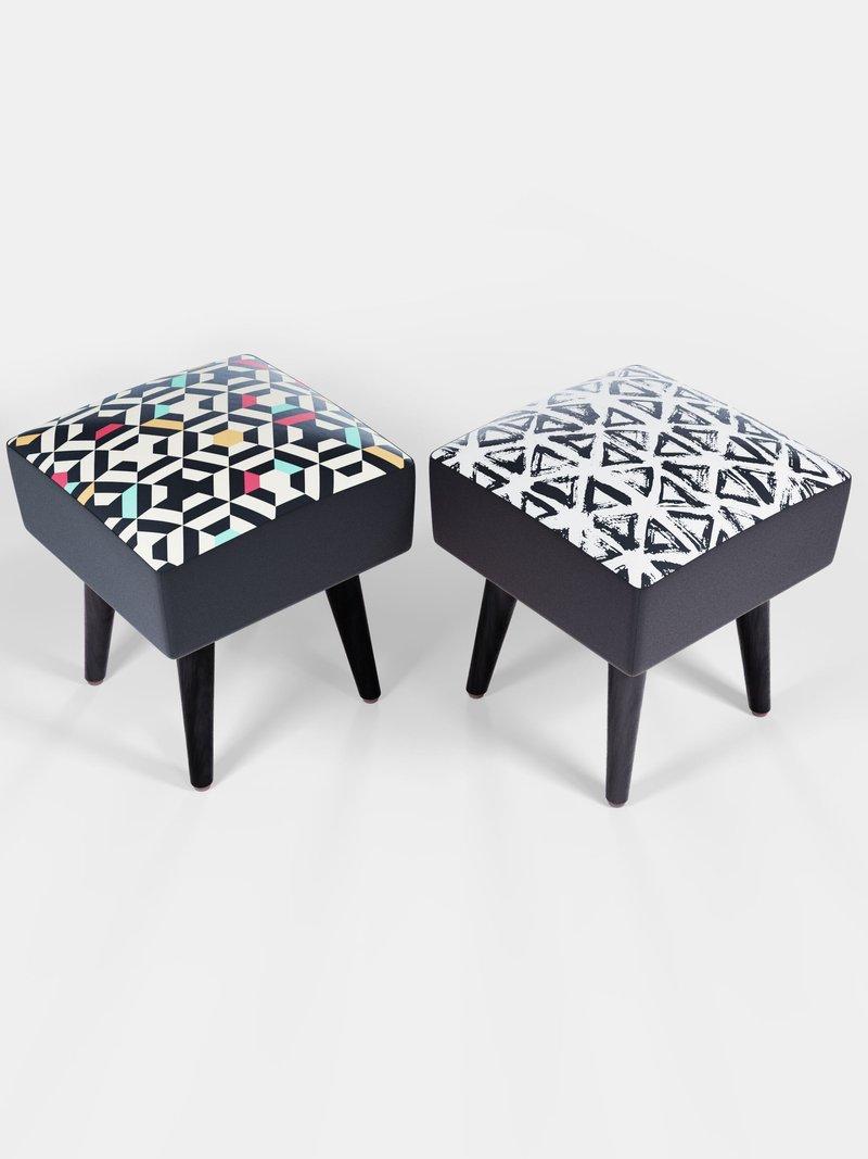 square footstools