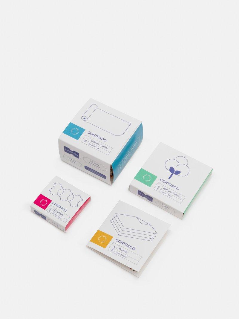 Pack de tissus naturels, synthétiques et papiers