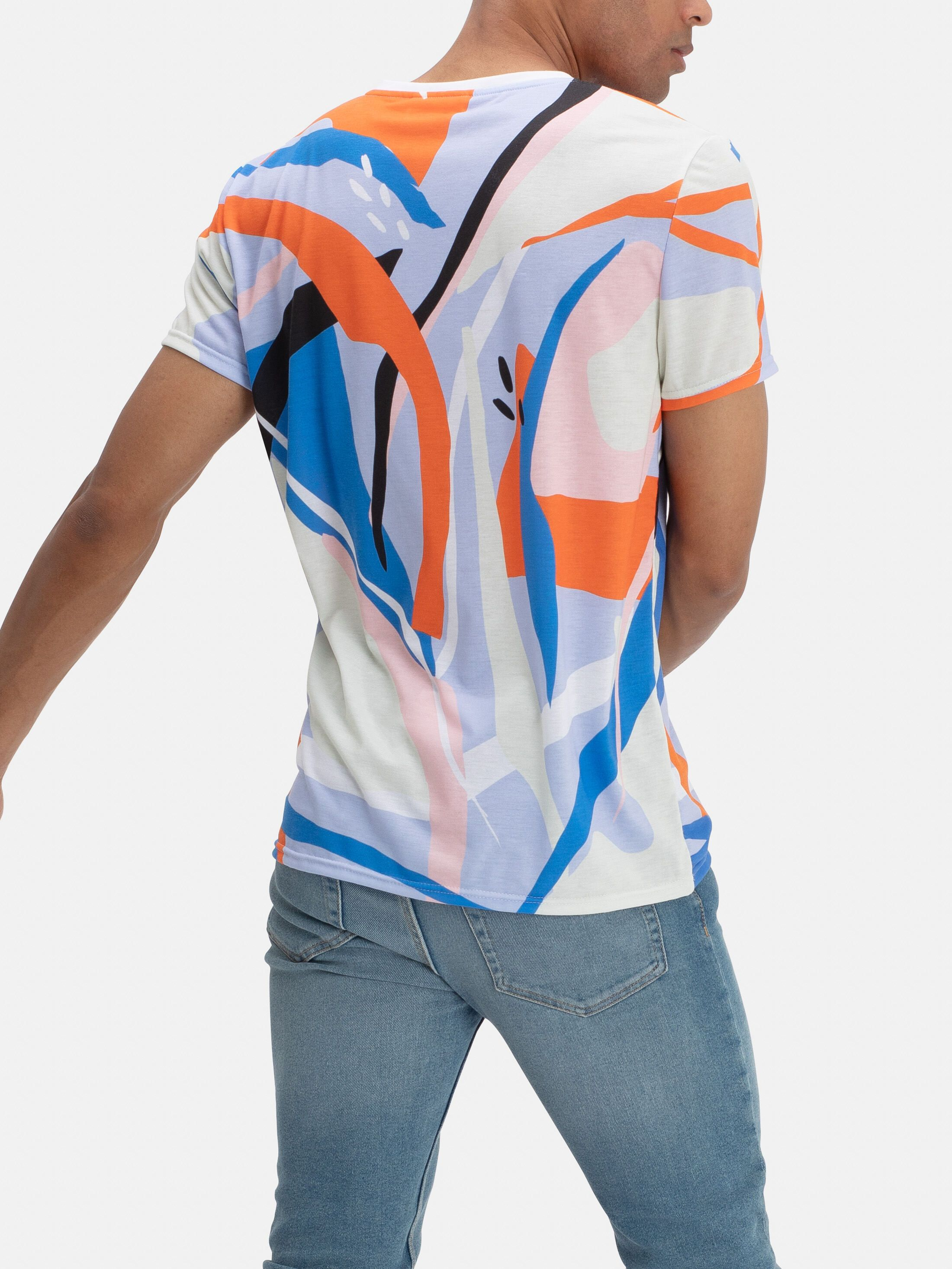 T-shirt imprimé de bout en bout à la demande