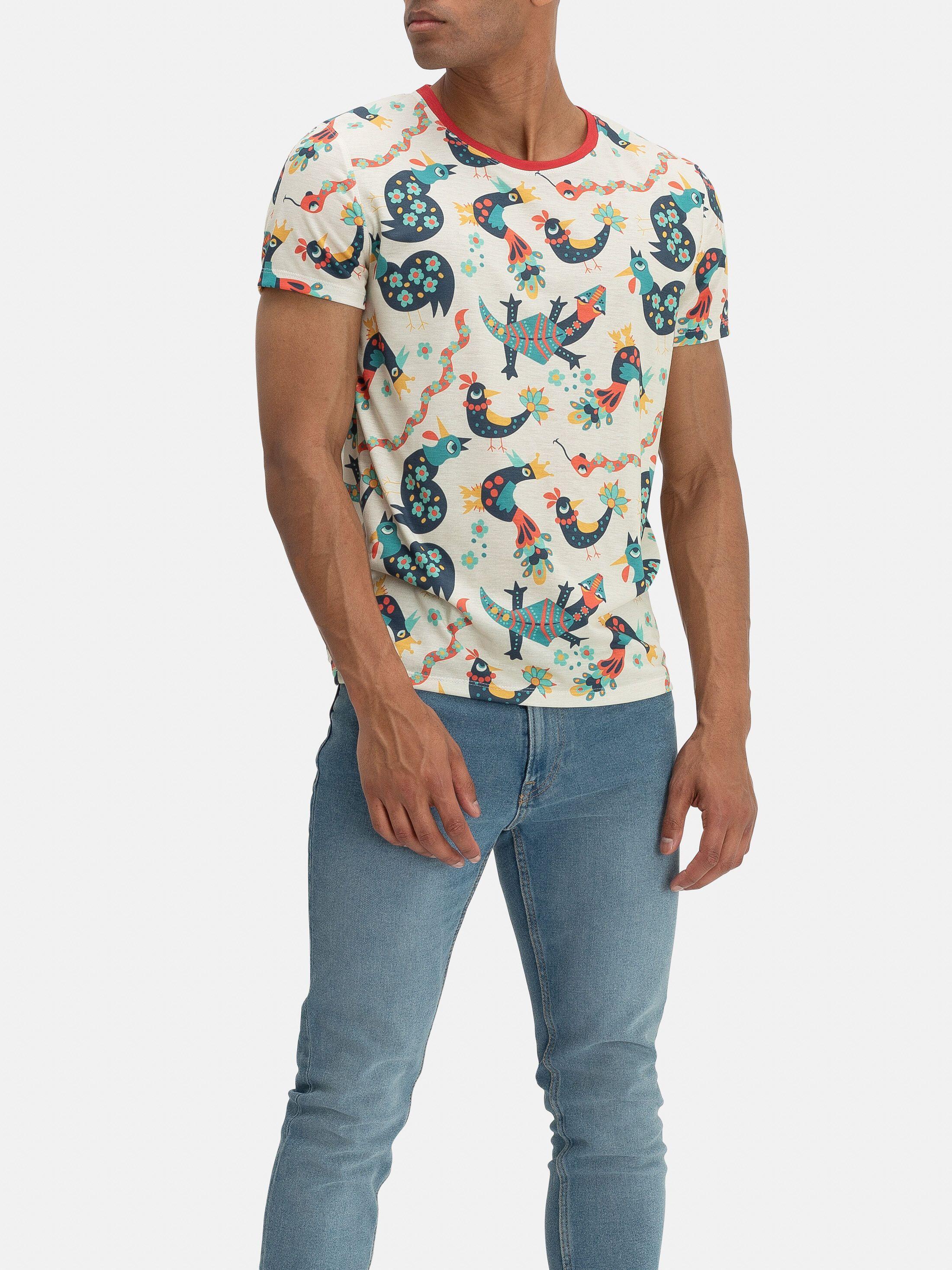T Shirt Komplettdruck Kragen Detail