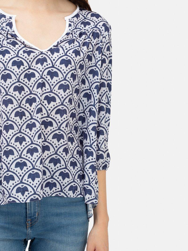 custom printed blouse