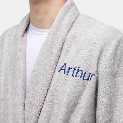 custom embroidered robe