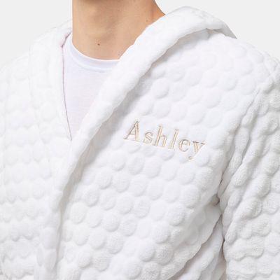 Personalised fleece dressing gown
