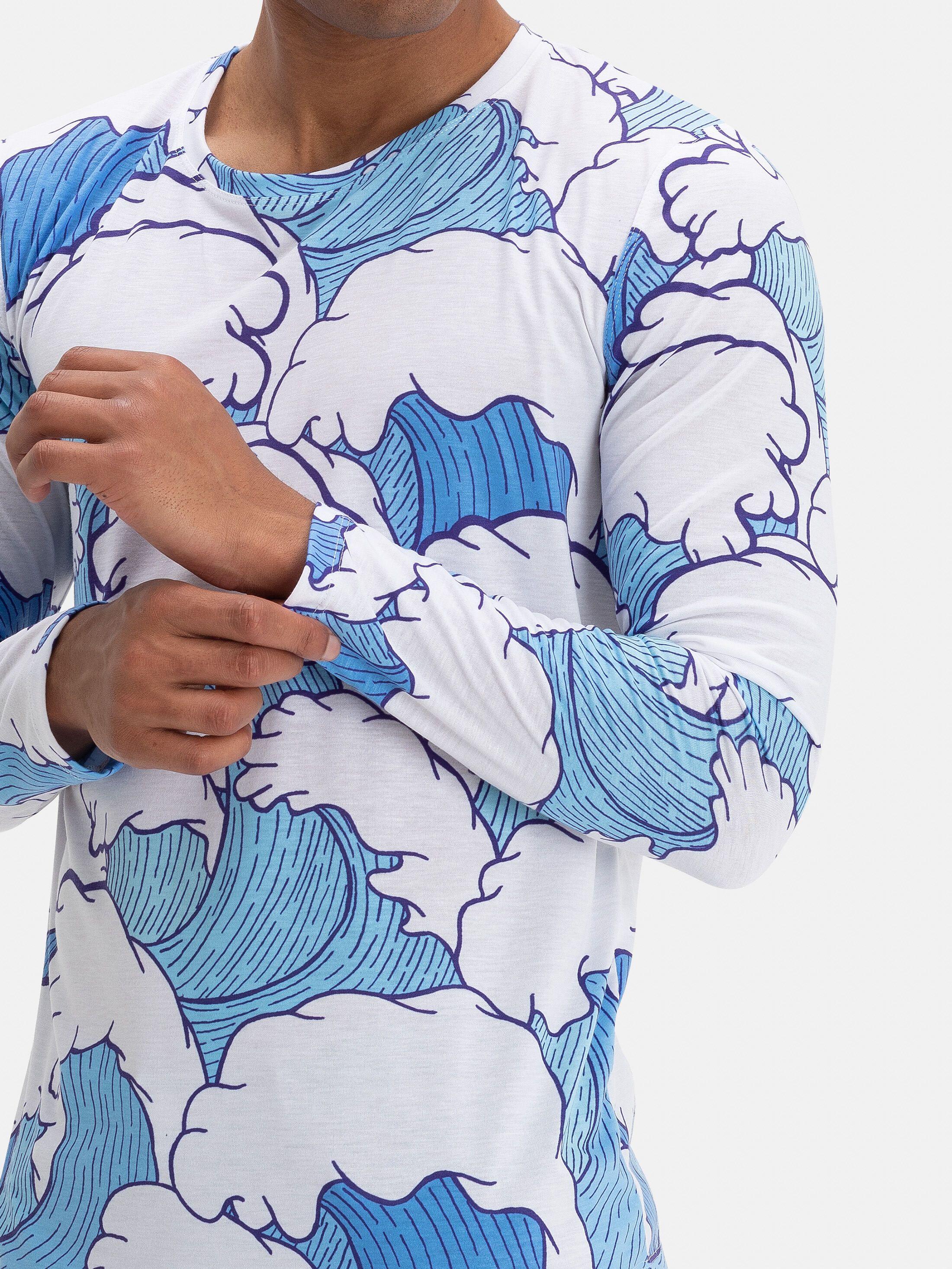 プリント 長袖Tシャツ