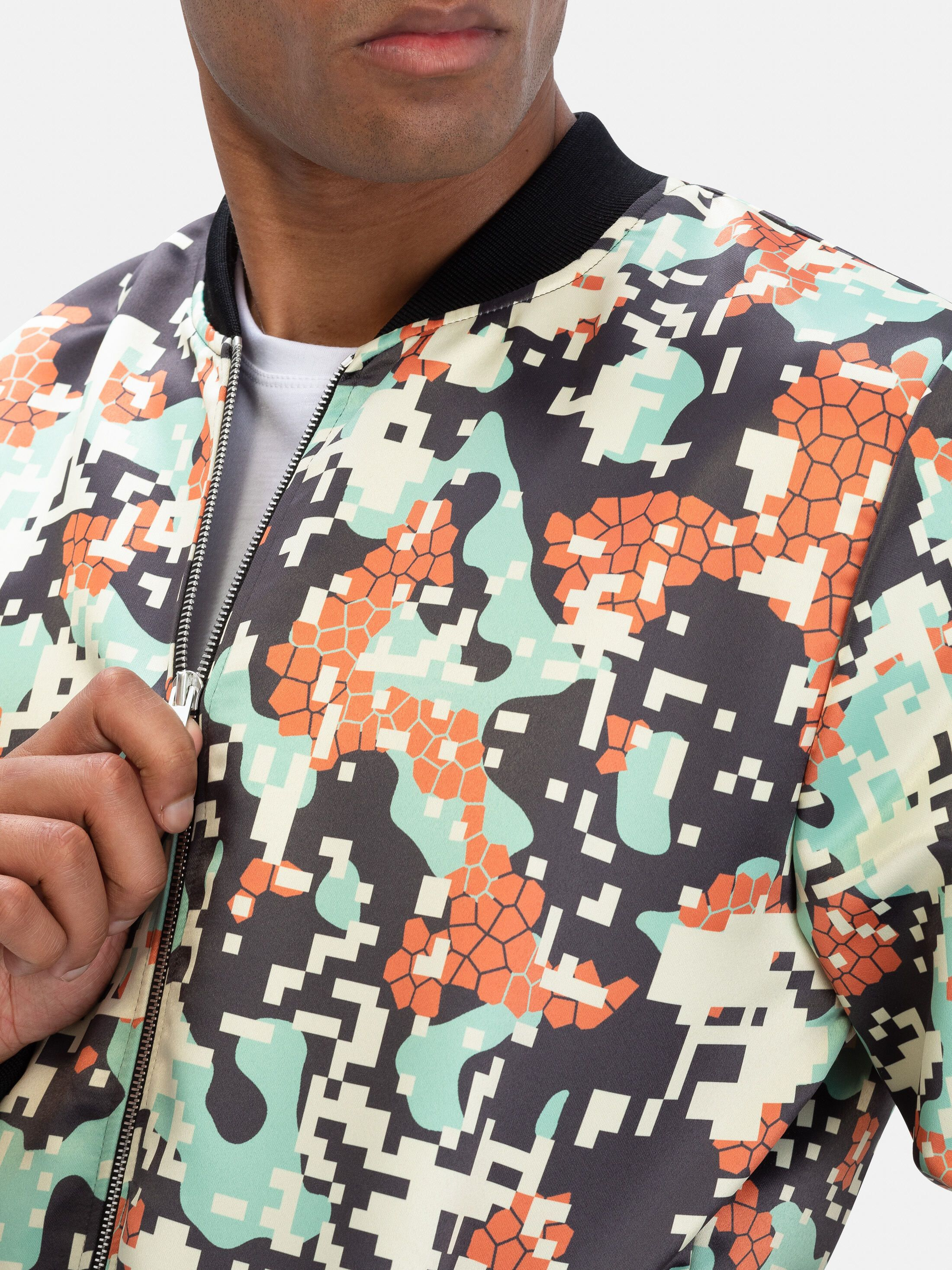 printable bomber jacket detail printing