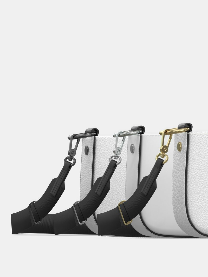 leather hardware options Custom Zip Box Bag