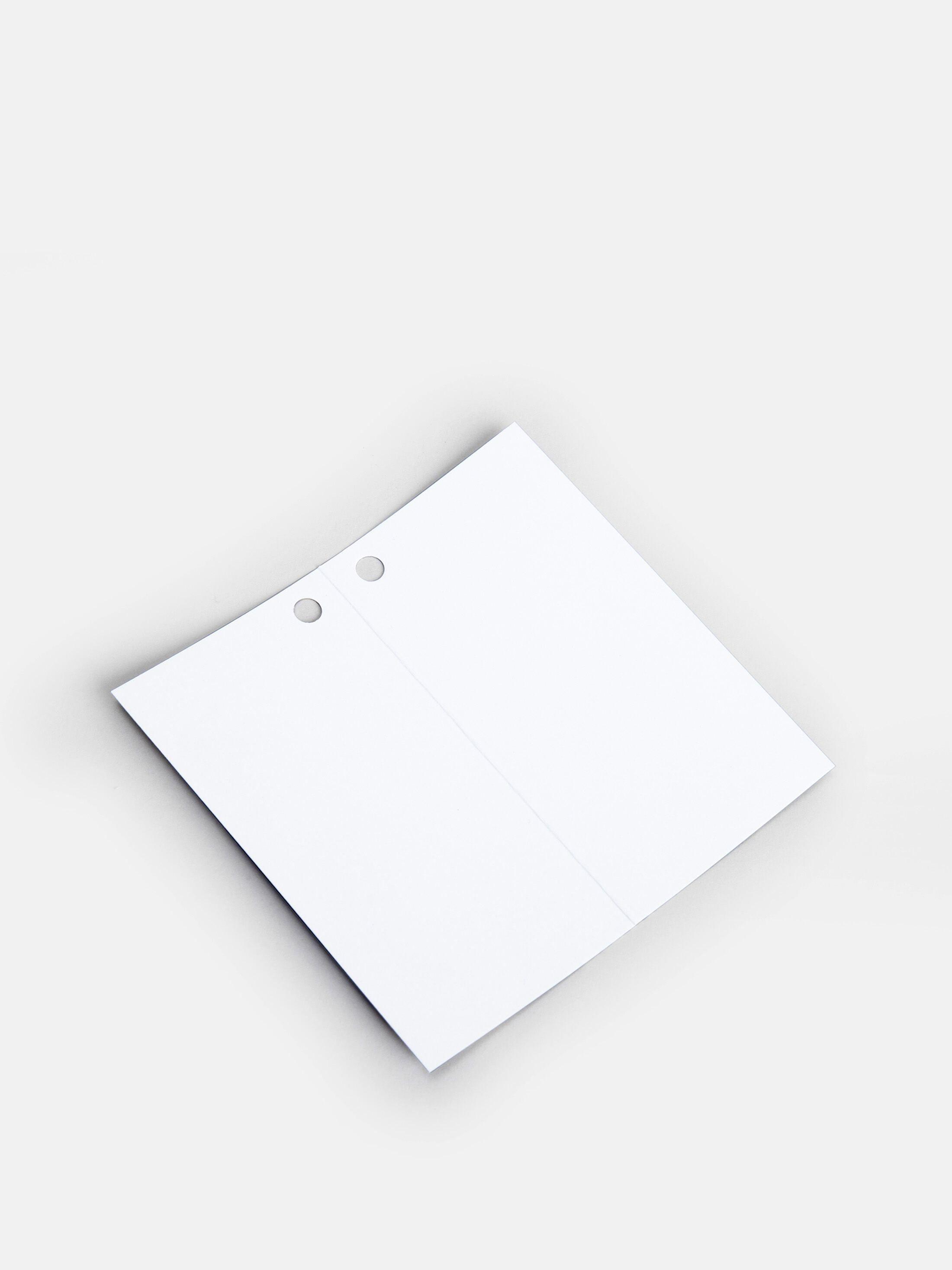 folded favor tag