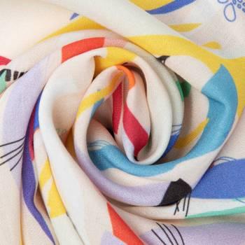 ビスコース布にオリジナルデザイン印刷