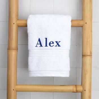 名入れ刺繍ができるタオル