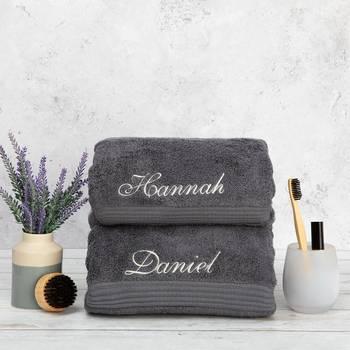 custom embroidered bath towels