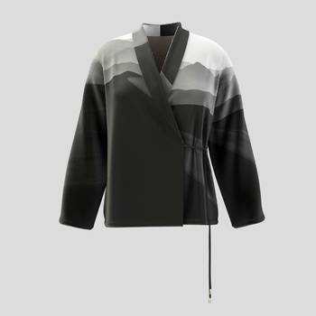 personalised wrap jacket