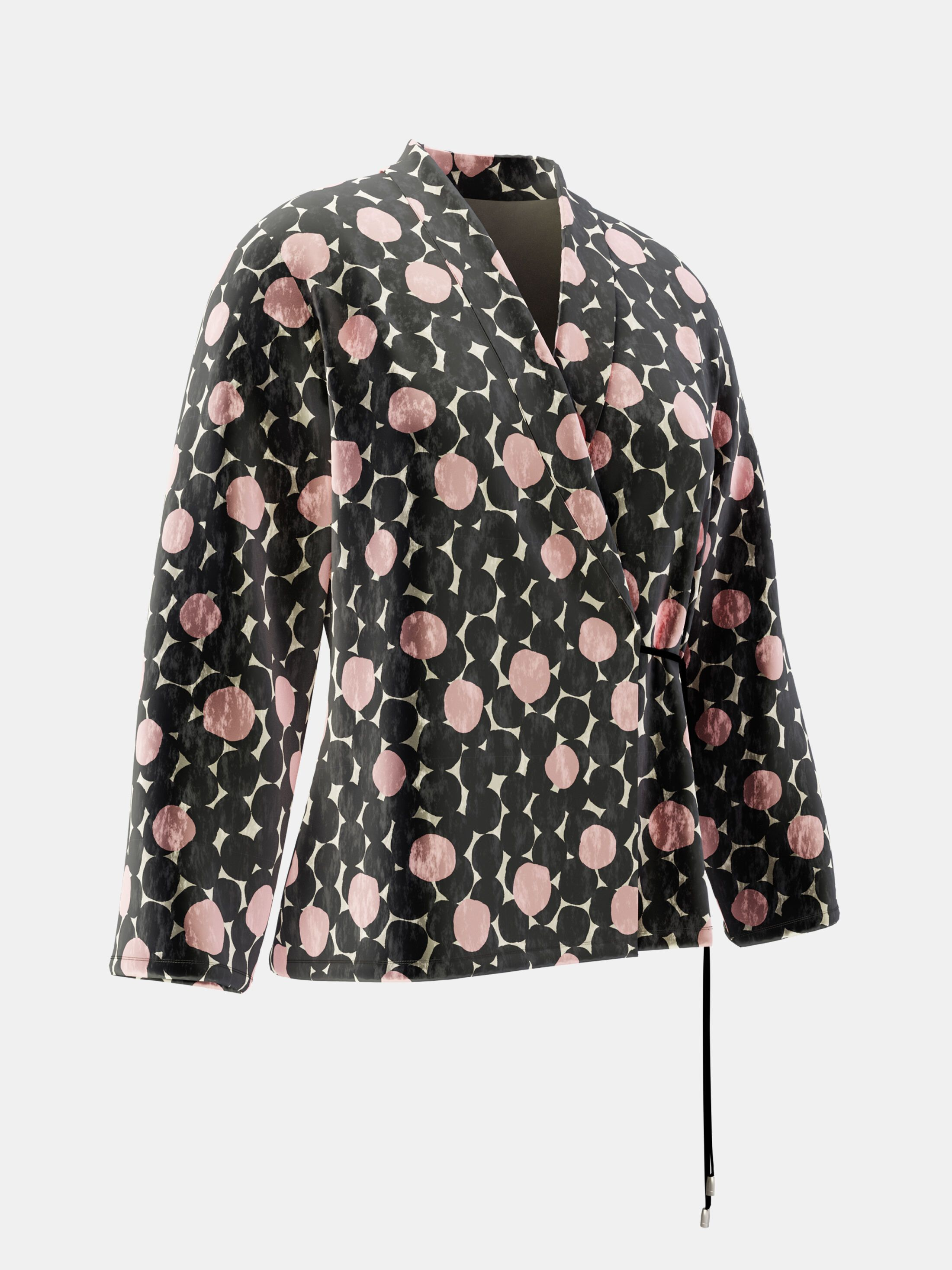 custom printed wrap blazer