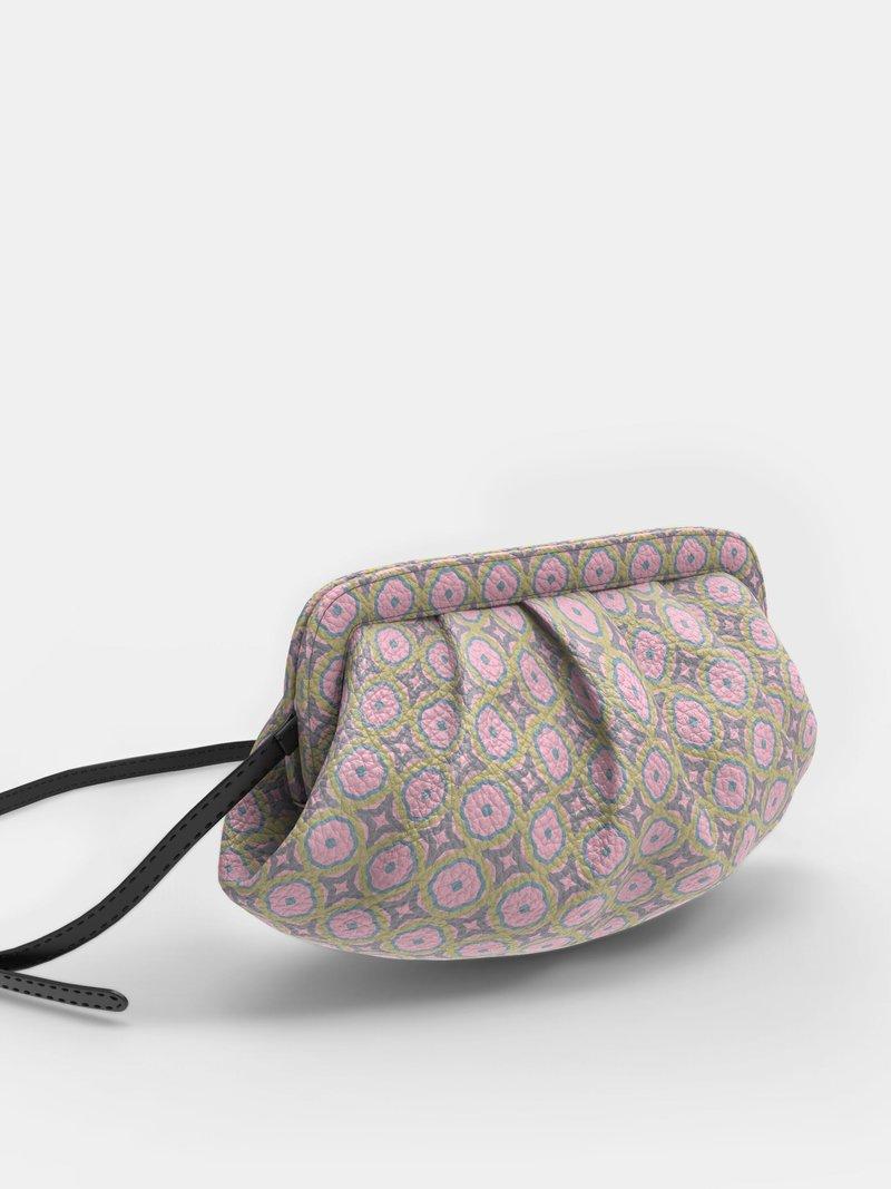 Custom pleated crossbody bag with strap