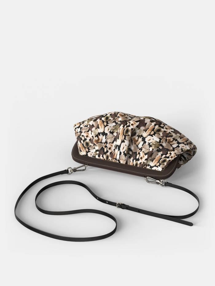 bespoke pleated crossbody bag