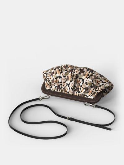 Custom pleated crossbody bag
