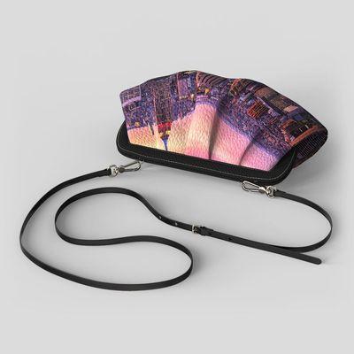 gepersonaliseerde geplooide crossbody bag