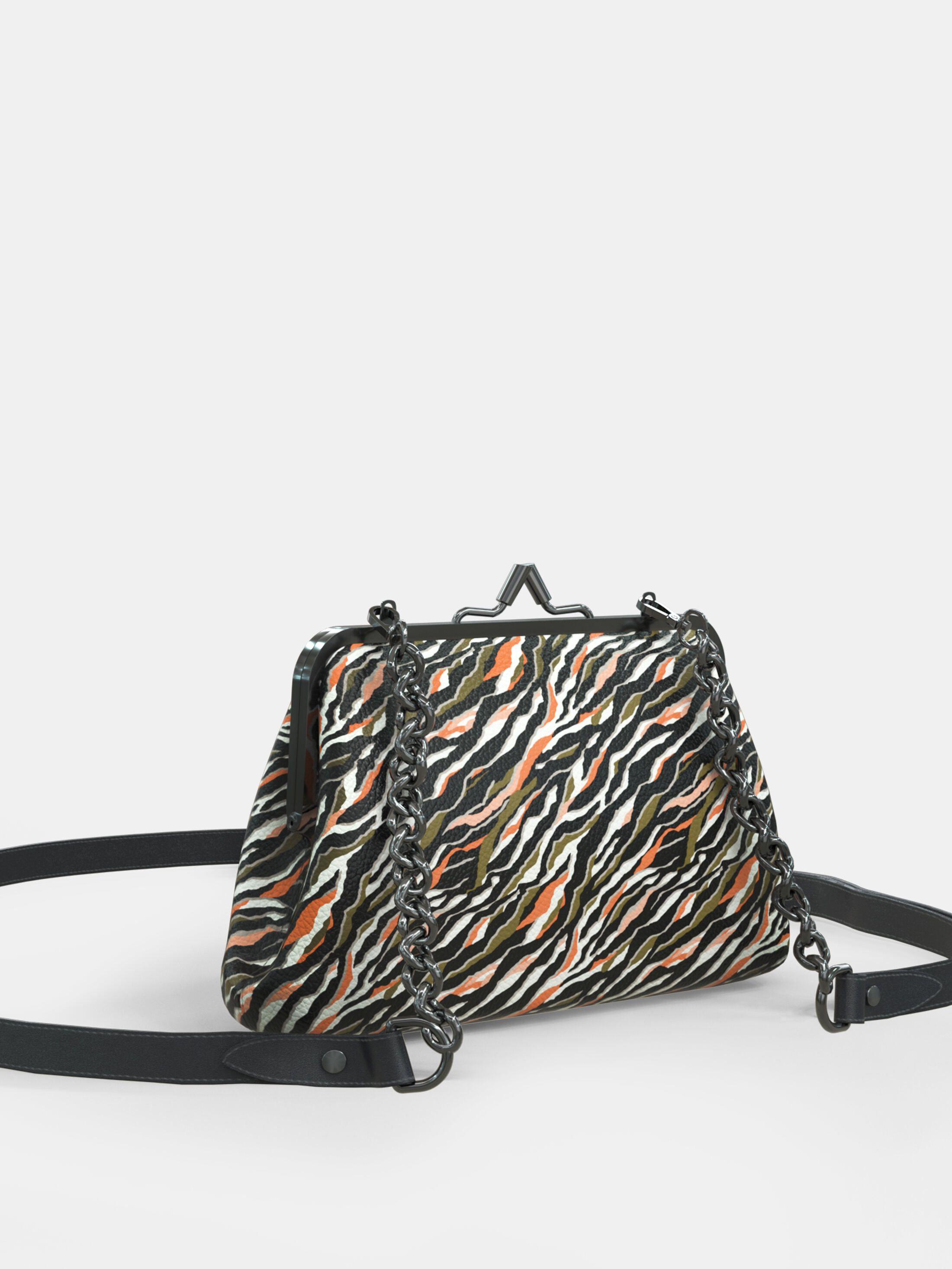 design your own metal frame clutch bag printed