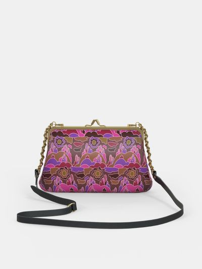 design your own metal frame clutch bag