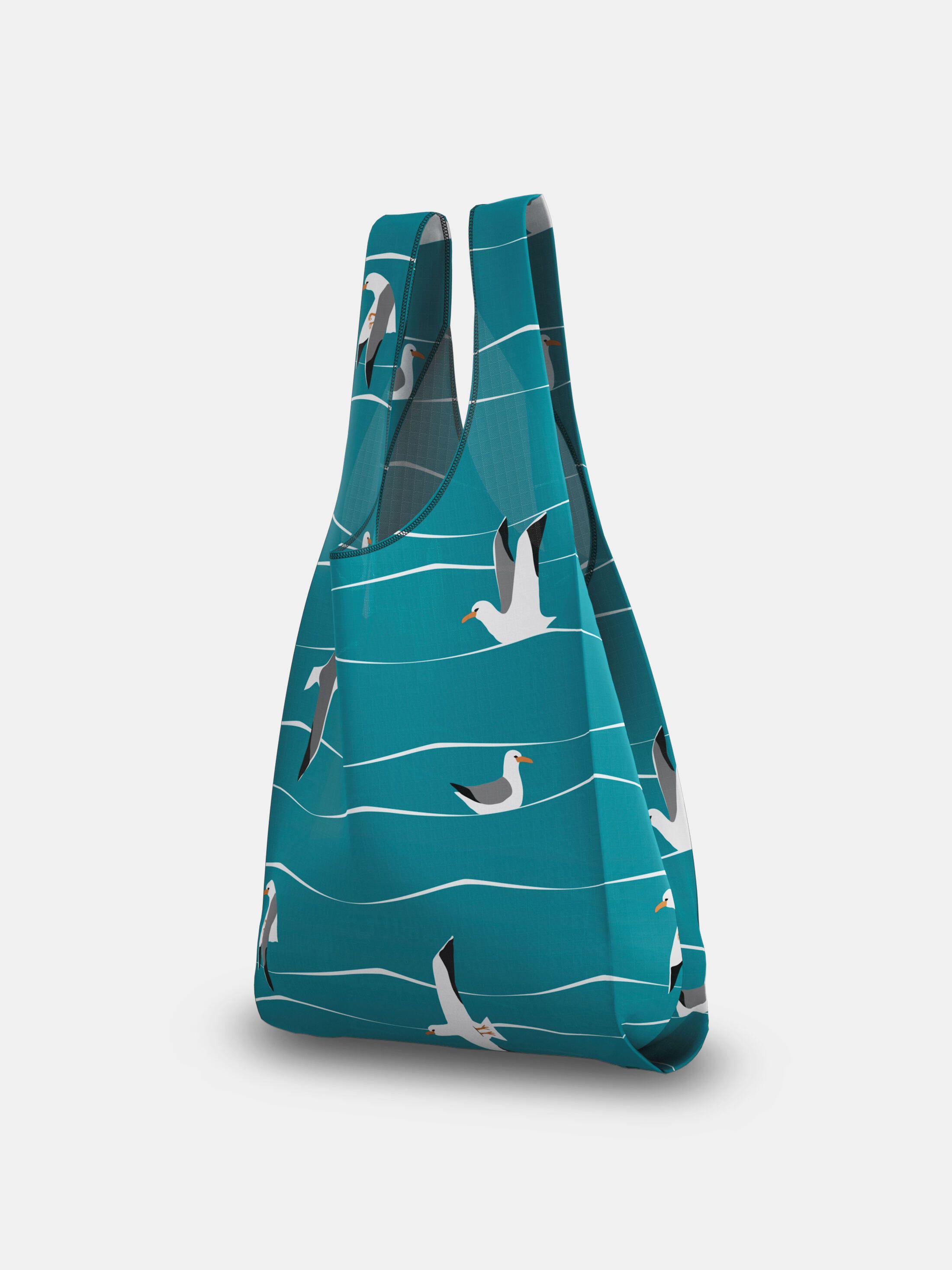 custom grocery bags bird print