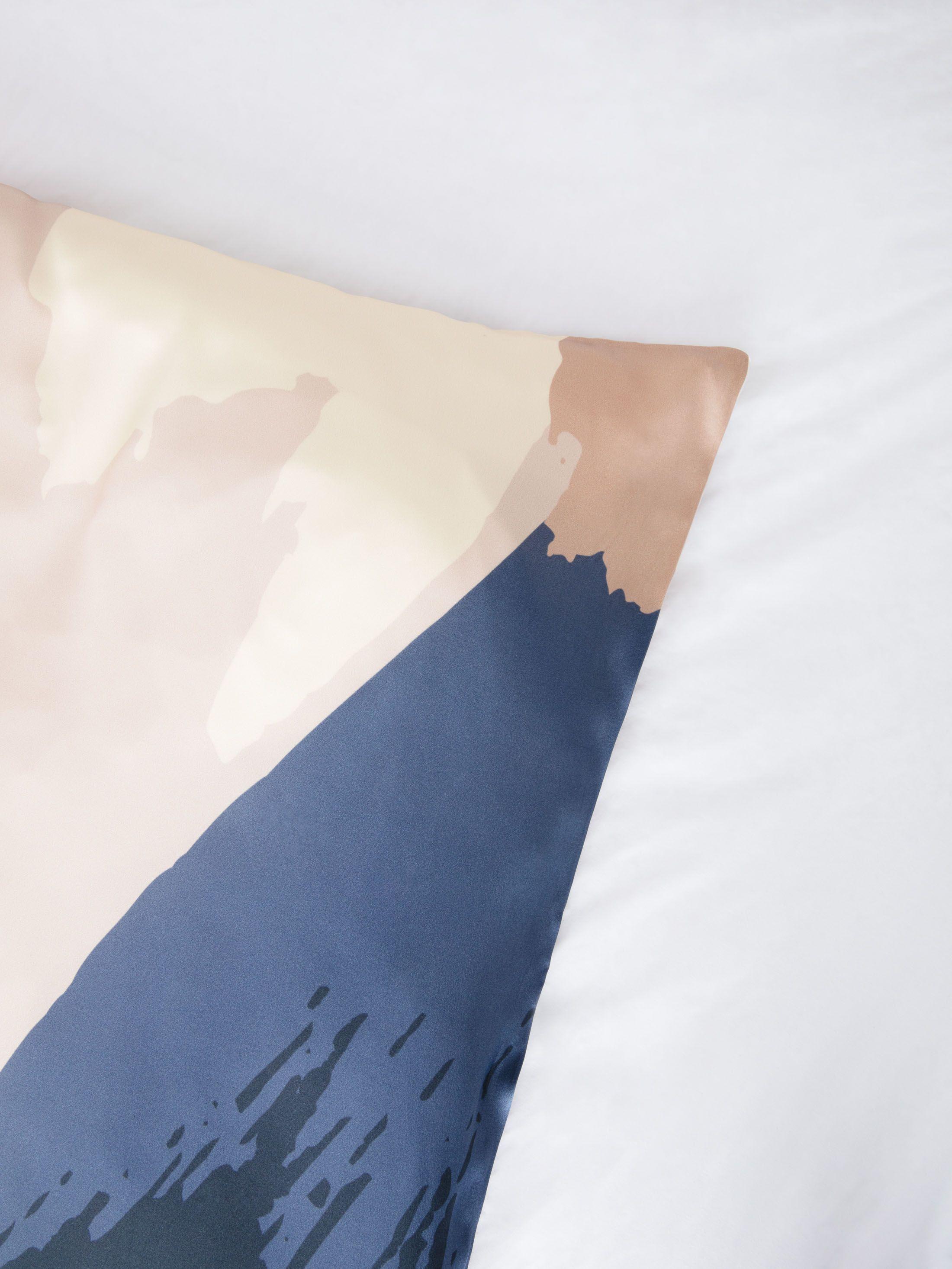 housse de couette en soie avec motifs
