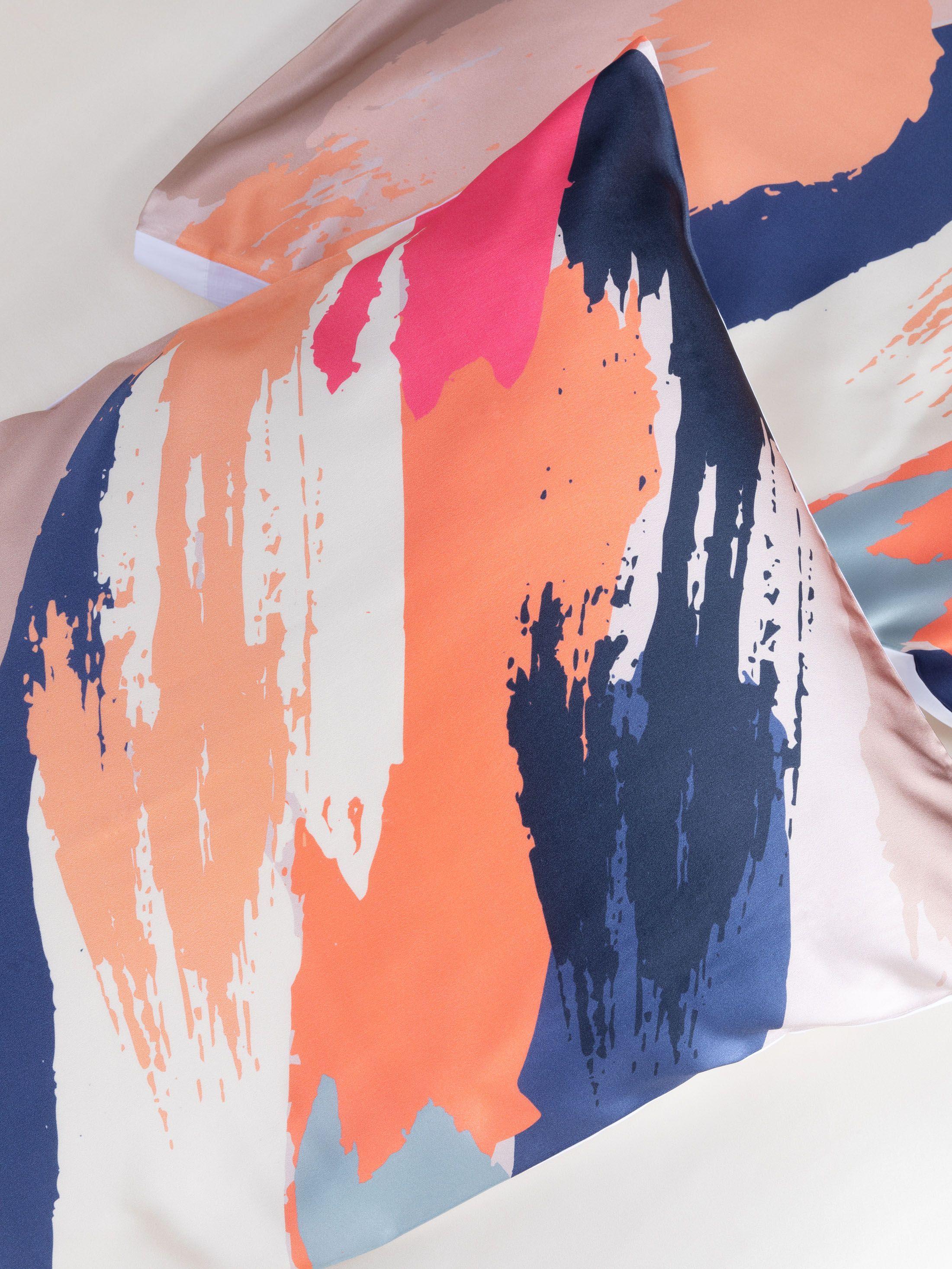 Custom Silk Duvet Cover detail
