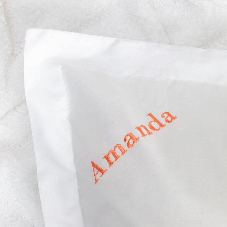 Custom Embroidered Pillowcases AU
