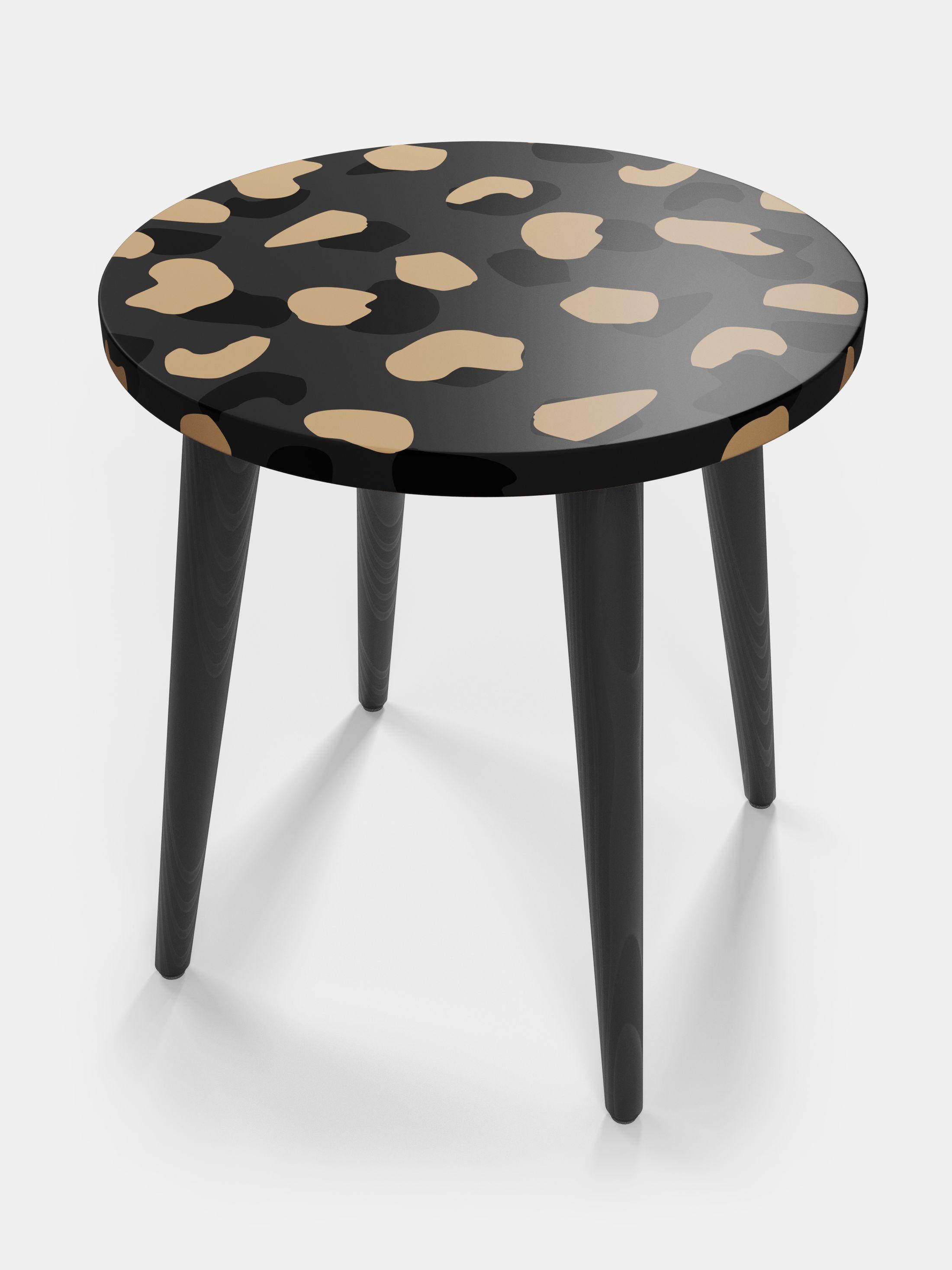 printed side table