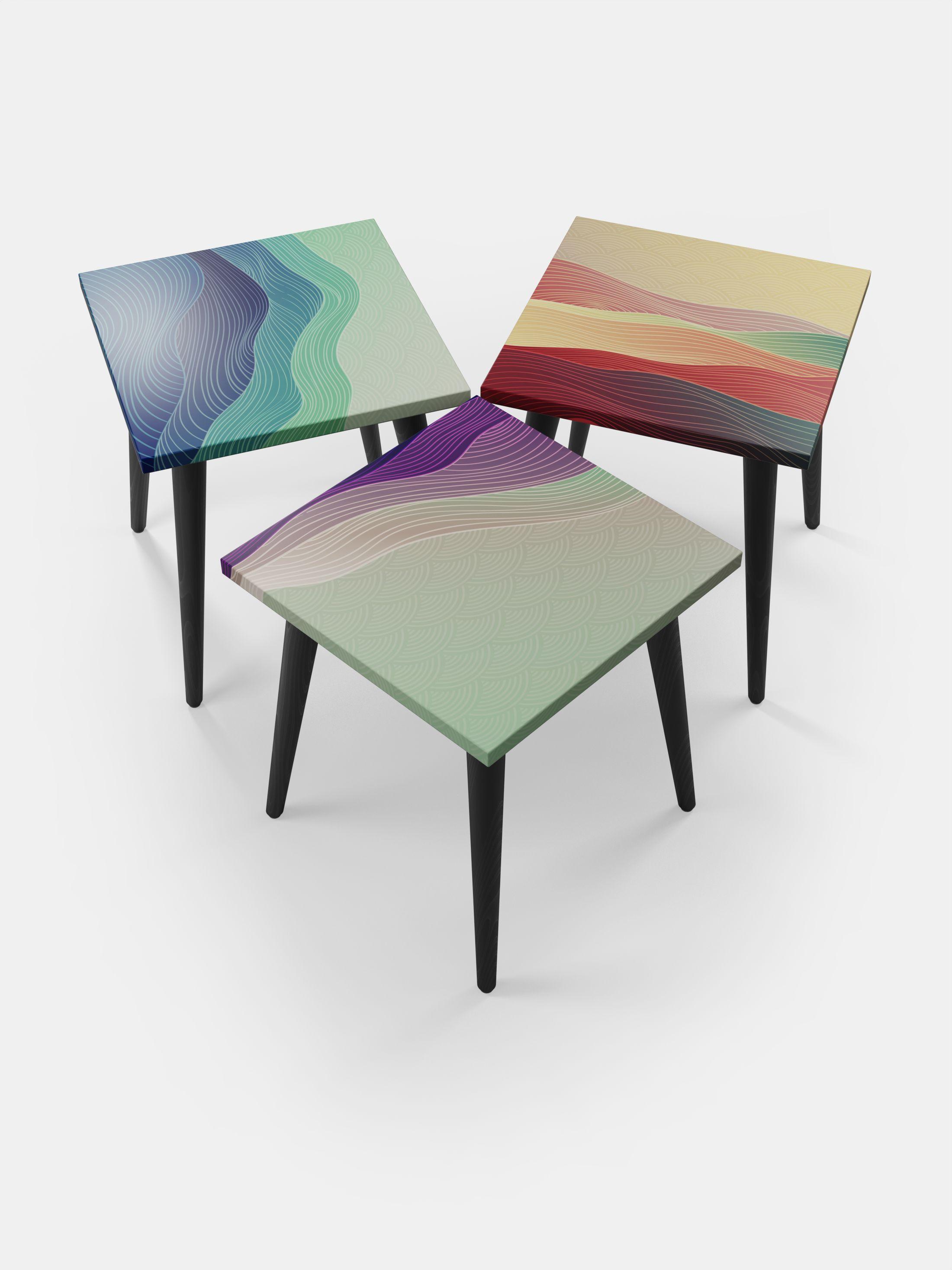 vierkante bijzettafels met jouw design