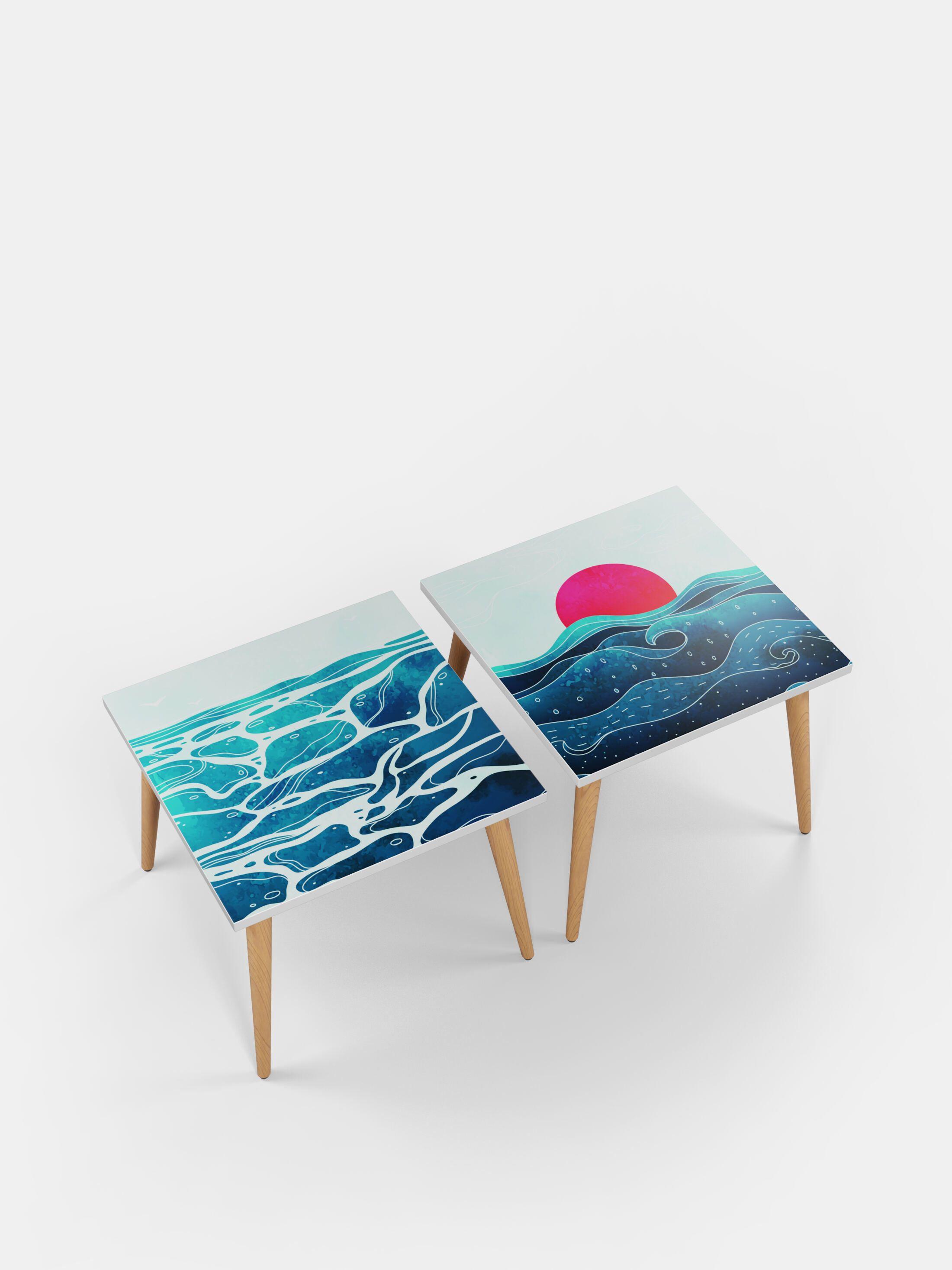 Tavolini da caffè quadrati personalizzati