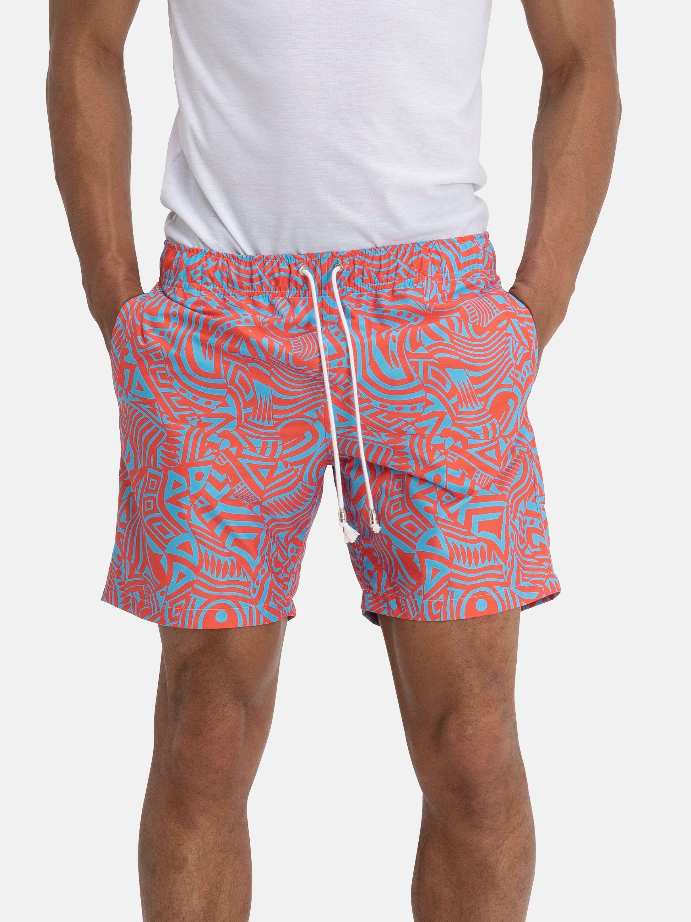 printed beach shorts
