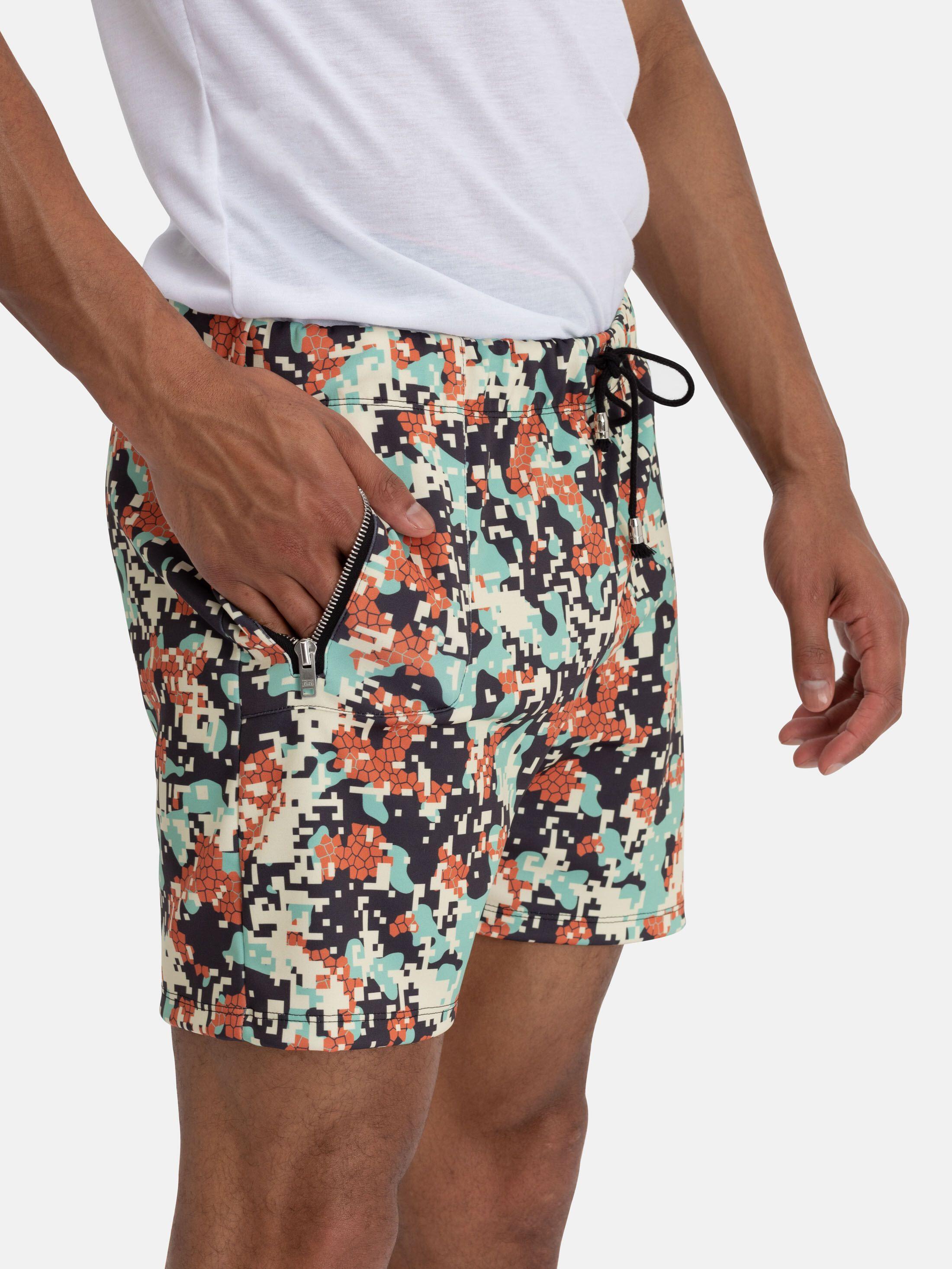 printed gym shorts