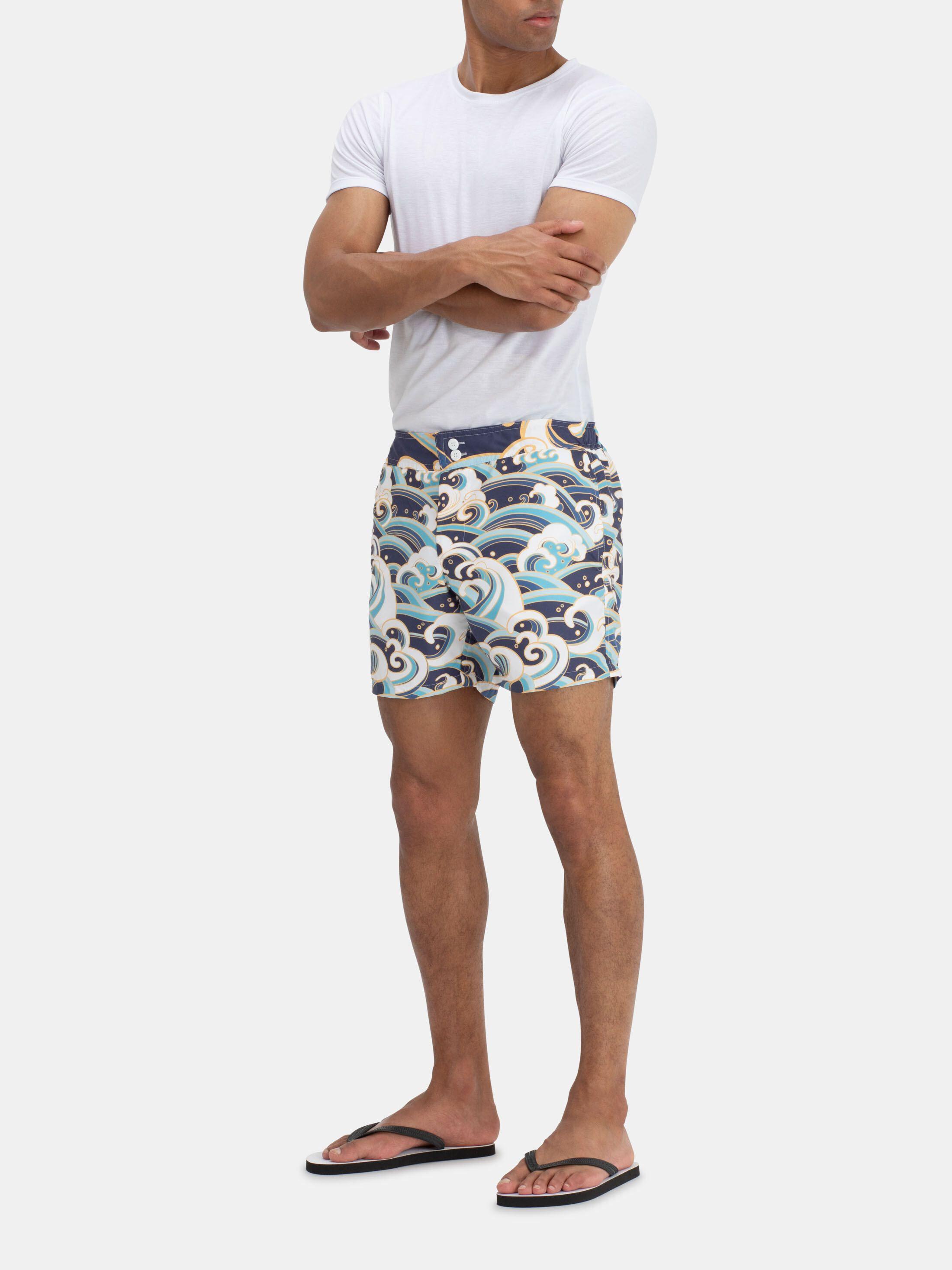 printed slim fit shorts