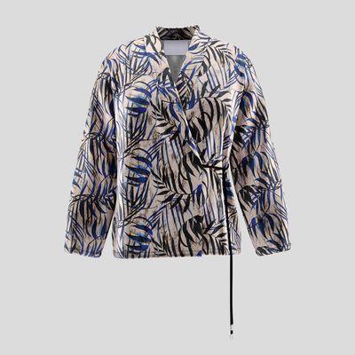 personalized wrap blazer