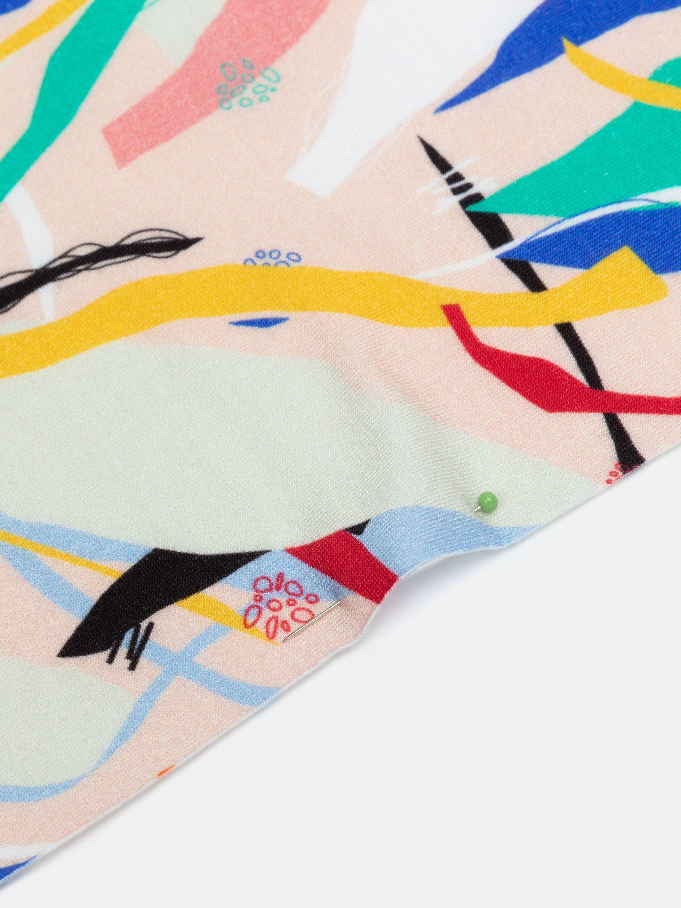 Custom viscose jersey fabric edges